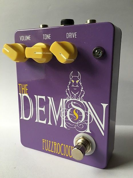 """The Demon is a low to medium-high gain distortion pedal with some  nice tweaks here and there. This pedal just makes your instrument sound  """"right.""""Includes bypass footswitch, volume pot, tone pot, drive pot, on/off LED, and a 1590BB enclosure.PLEASE  NOTE: This is in fact the pedal known formerly known as """"Oh See Demon.""""  Fuzzrocious changed the name about 2 years ago to avoid product  confusion. The circuit remains the same. **As noted in the pictures, these pedals come in a variety ..."""