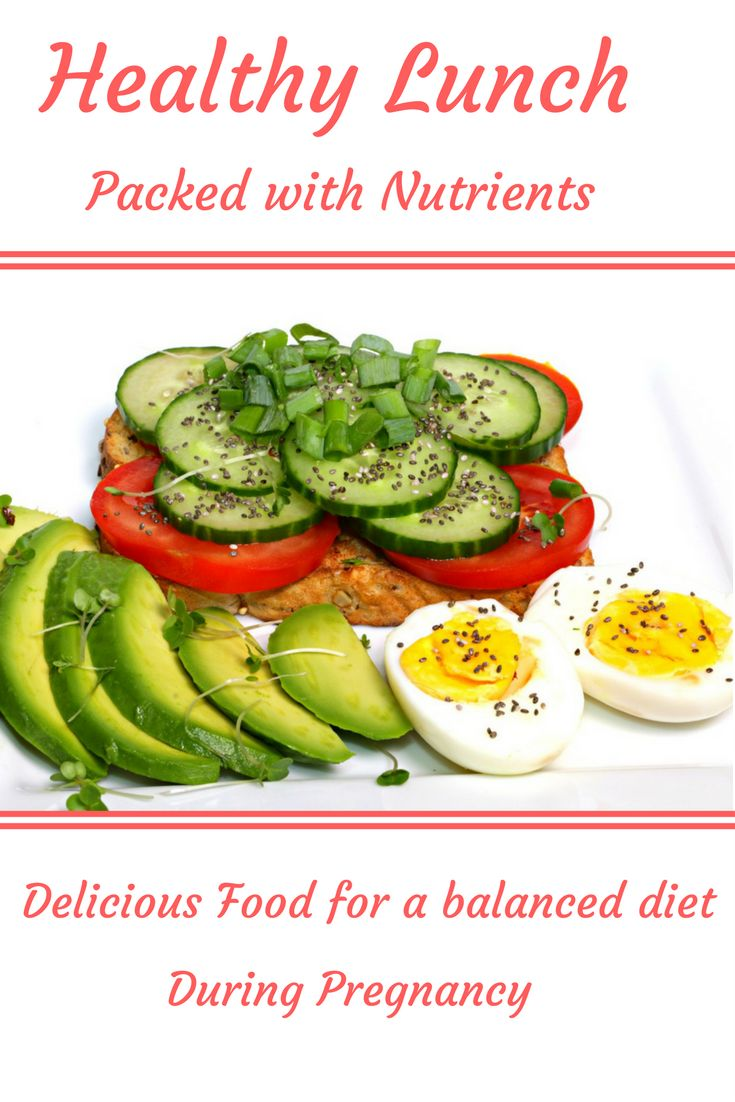 This is a great idea for a healthy lunch packed with the nutrients you need during pregnancy
