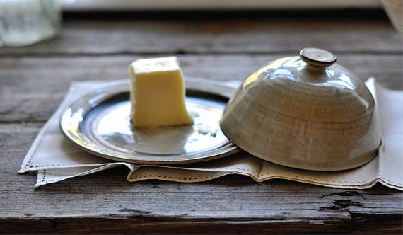 Rustic Butter Dish by JustWork on Etsy, $40.00