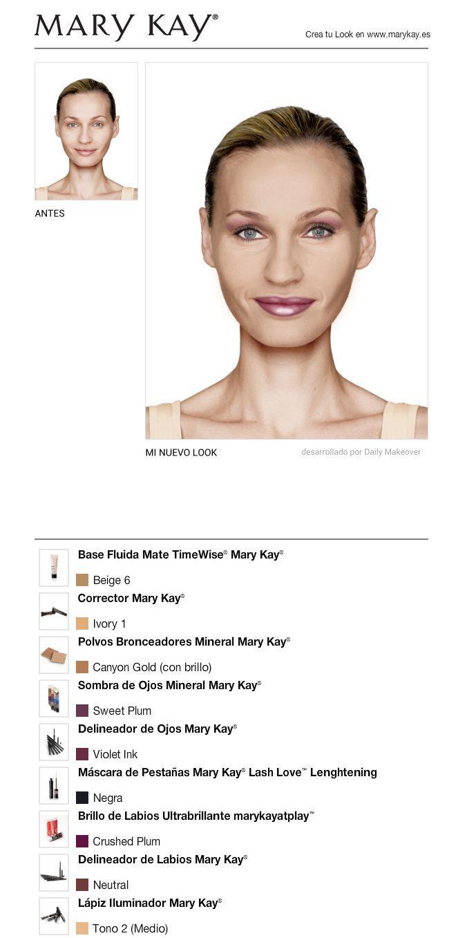 Acabo de cambiarme el look gratis con el maquillaje virtual mary kay pru balo