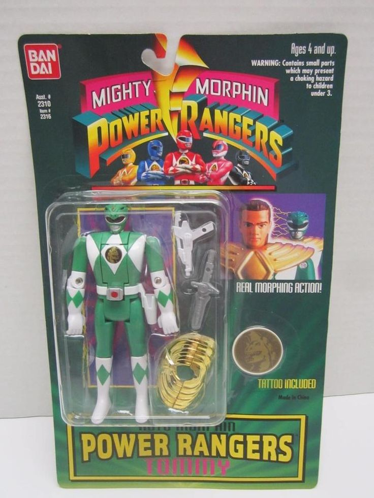 Mighty Morphin Power Rangers action figure Tommy 1994 W/Tattoo NIP Auto Morphin #Bandai #powerrangers #toys