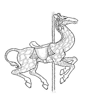 coloring pages of carousel zebra - photo#9