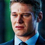 Zach Roerig cry face.