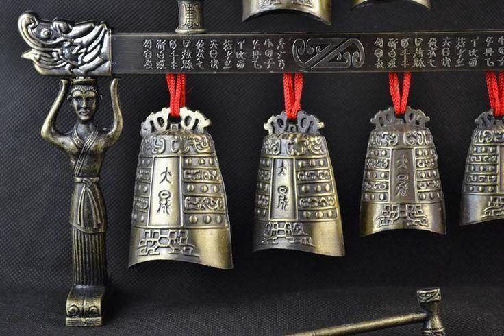 Sinos de bronze Chinesa do Tibete glockenspiel dragão Sinos em Chinês antigo instrumento musical de metal artesanato em Figurinhas & Miniaturas de Home & Garden no AliExpress.com   Alibaba Group