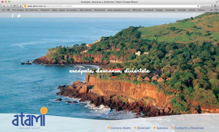 website atami escape resort, inicio, 2014. ®raquel marón estudio creativo