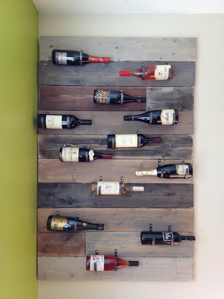 Handmade, wall-mounted wine rack. $160.00, via Etsy.