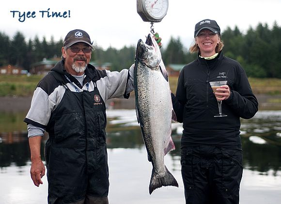 Tyee Time! Saralee Wallis caught this 30-pound tyee yesterday in Haida Gwaii with guide Butch Sakiyama. http://www.peregrinelodge.com/blog.php?p=262