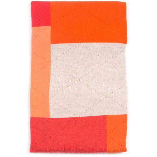 Rocco blanket - Carrot - folded