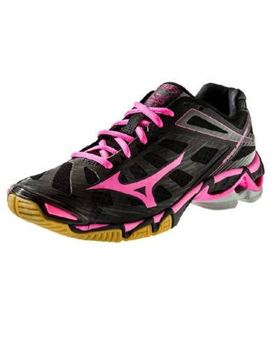 Mizuno Womens Wave Lightning RX3 Volleyball Shoe Black/Pink - 1st Place Volleyball