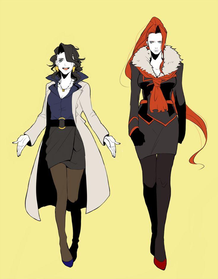 Pokemon Genderbend Professor Sycamore and Team Flare Leader