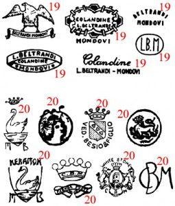 марки и клейма итальянская керамика PIEMONTE 4