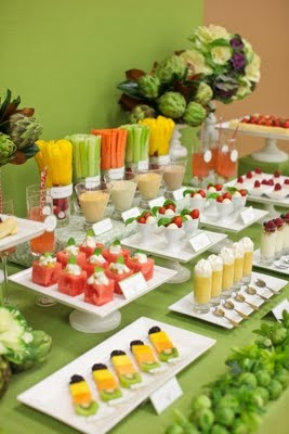 Veggie/Fruit Buffet! Looks delicious :)Healthy Parties Snacks, Buffets, Fruit, S'Mores Bar, Healthy Snacks, Parties Ideas, Healthy Food, Desserts Tables, Parties Food