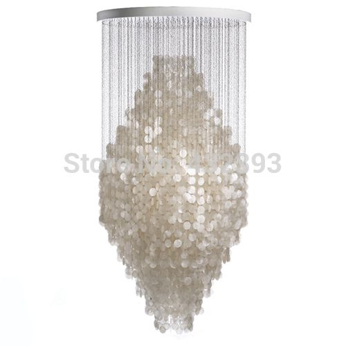 Modern Fashion Lustre Shell Chandeliers Home Decoration Pendant Lamps Restaurant…
