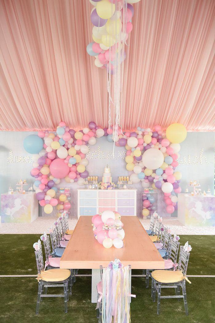 Dream Believe Wish Pastel Unicorn Birthday Party On Karas Ideas