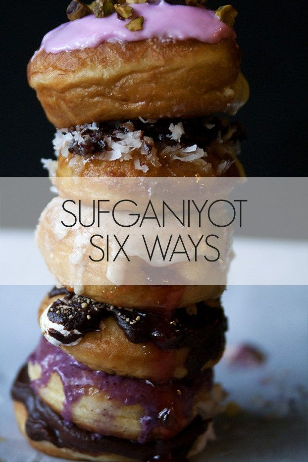 Kosher recipes   Chanukah Recipes   Chanukah Sufganiyot Six Ways! Learn how to make these delectable donuts for Hanukkah or any occasion you choose! Flavors include strawberry jalapeño, amores, samoa, peppermint patty, allspice blueberry and rosewater pistachio.
