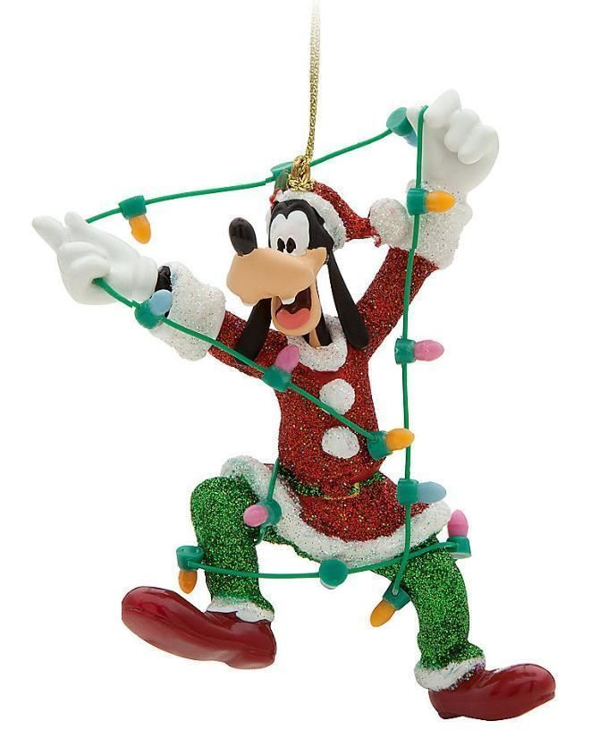DISNEY Santa Elf Goofy Ornament NEW Tree Lights Christmas