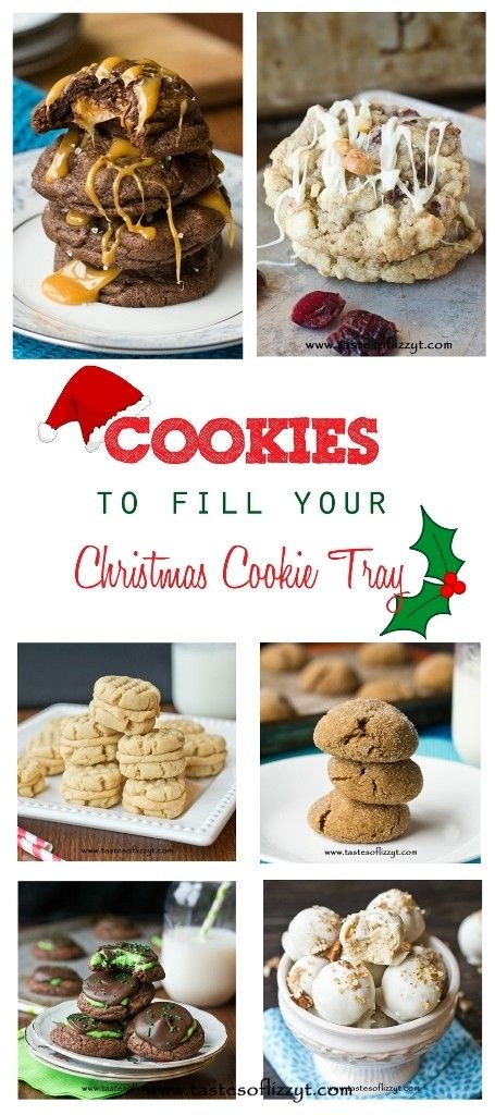 Most loved, favorite Christmas cookies from Tastes of Lizzy T. Fill your Christmas cookie tray with the best cookies!