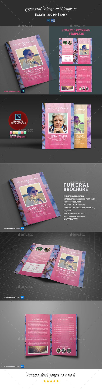 Best FuneralMemorial Programs Templates Images On Pinterest - Brochure photoshop template