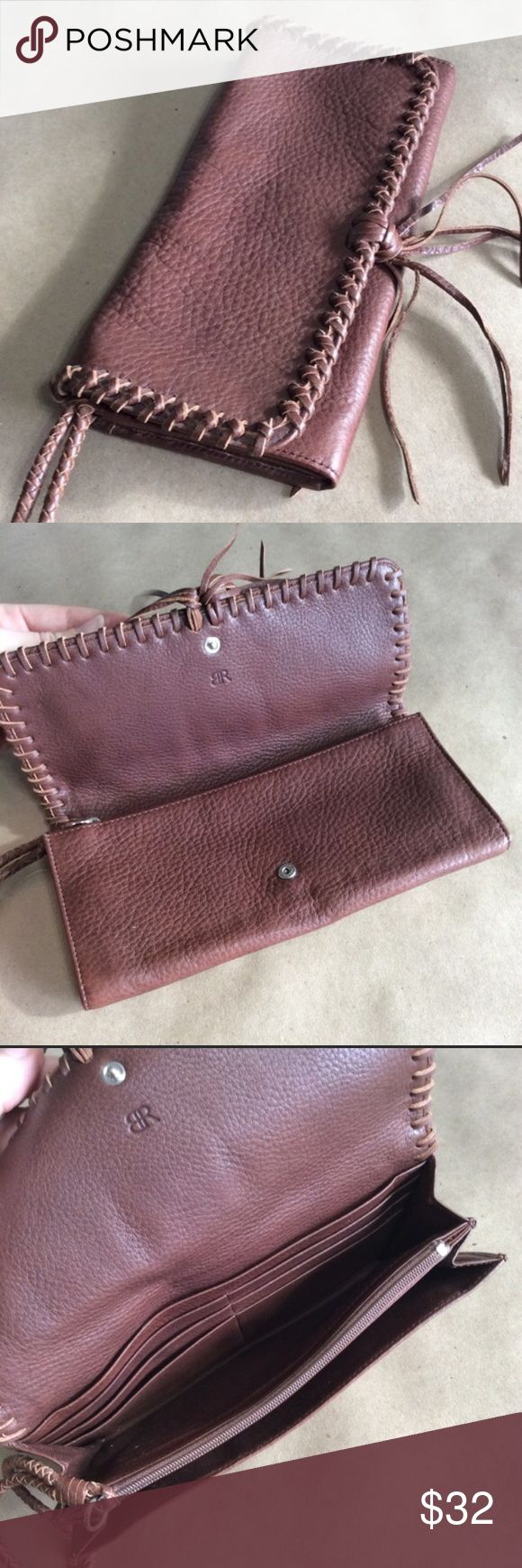 Banana Republic Wallet Banana Republic Brown Leather Wallet/Clutch! Credit Cards slots, clasps for closure, and strap for a wristlet! Banana Republic Bags
