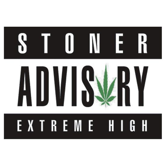Shop stoner advisory sticker created by personalize it with photos text or purchase as is