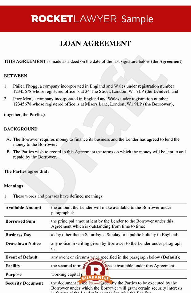 Free Loan Contract Template Unique Loan Agreement Loan Contract Loan Agreement Template In 2020 Contract Template Personal Loans Loan Money
