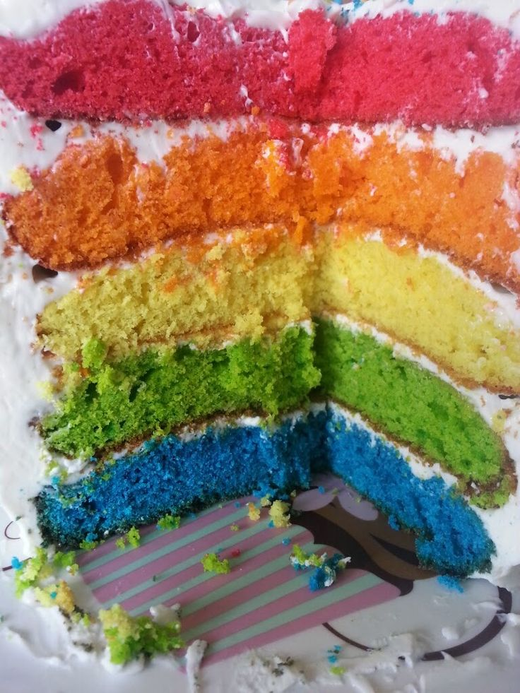 Le rainbow cake.