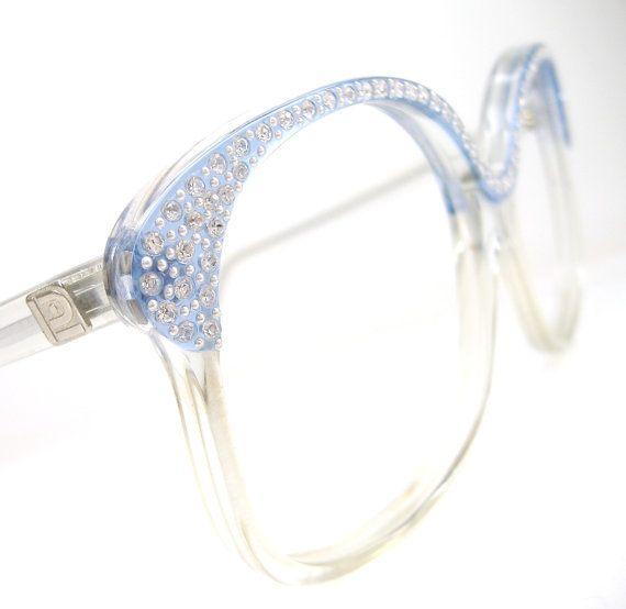 Vintage 80s Ice Blue Oversized Frame Glasses by Vintage50sEyewear, $98.00