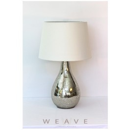 ROTUND GLASS LAMP BASE