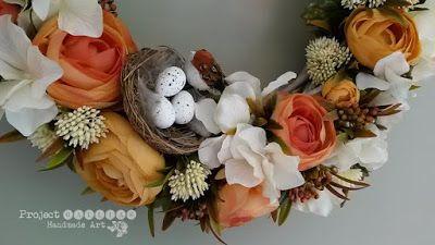 Project Gallias: Wianek na rocznice  #projectgallias, Floral Wreath, Door decoration wreath