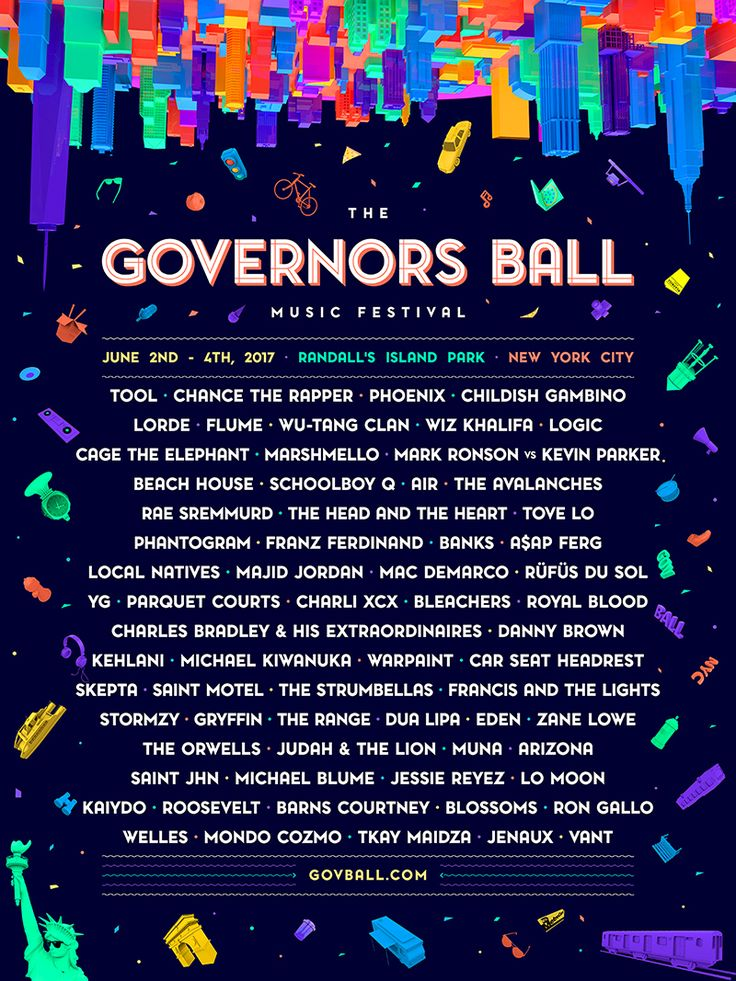 The Governors Ball Music Festival returns to New York's Randall's Island from June 2nd - 4th, 2017