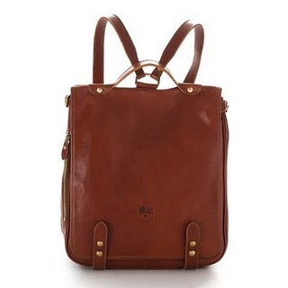 ilbisonte leather backpack