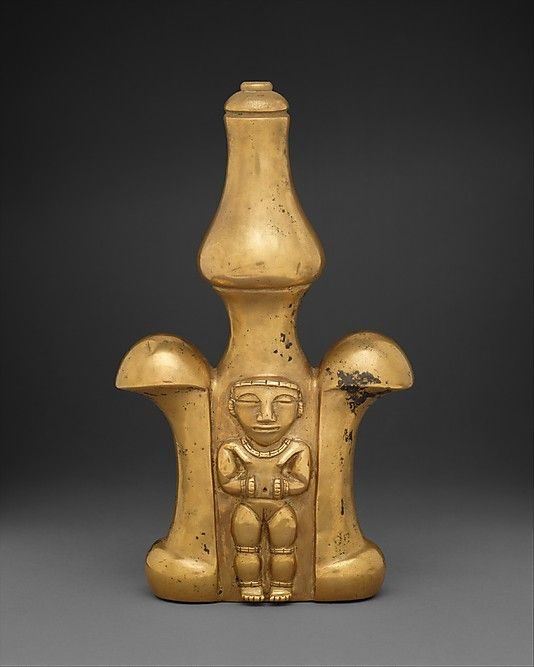 Lime Container (Poporo)1st-7th century Colombia,cultura Quimbaya. Gold