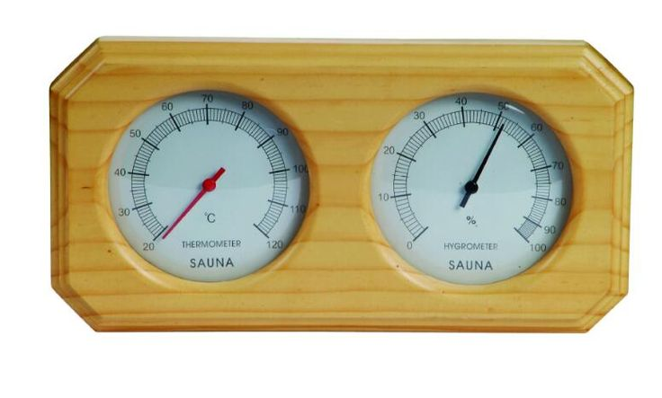 High quality Sauna Equipment And Accessories Sauna Room Thermometer Hygrometer