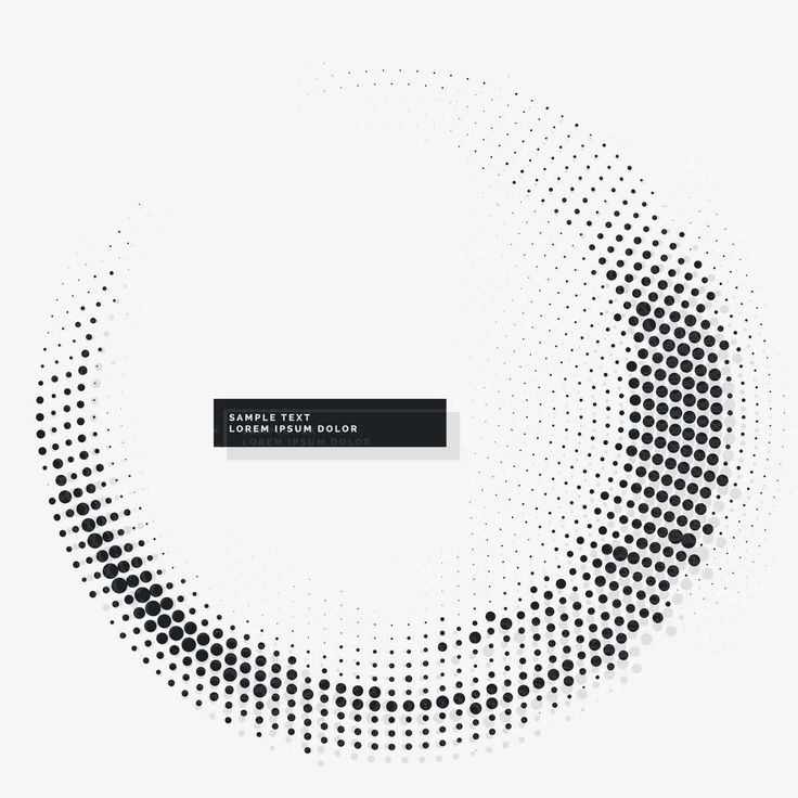 Circular White Background With Dots - FREE