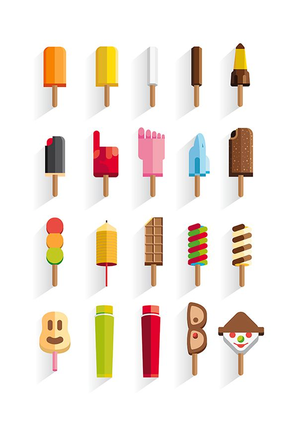 My childhood ice creams on Behance
