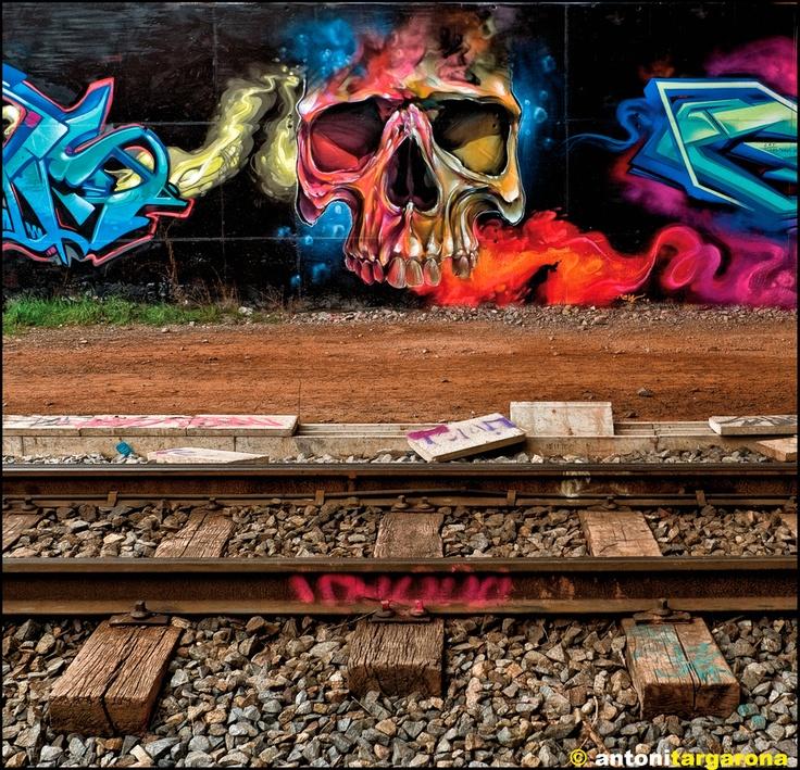 Cool Skull Art - Graffiti Send your pics to   www.ostilewebzine.com