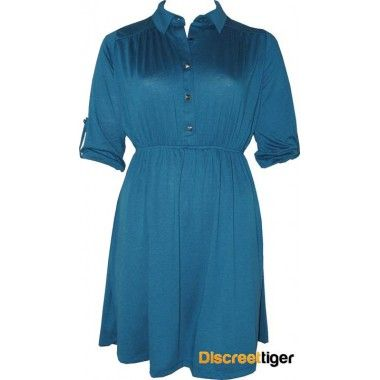Gorgeous teal shirt dress, perfect for that casual bbq or gathering of friends. Has a cinched in waist to accentuate those lovely curves and a 3/4 folded sleeve with a studded button. The pointed collar and shirred back yoke design add that little bit of fancy without being too over the top. Finishes just above the knee depending on your height. Add a pair of wedges and maybe a belt and your set to go.