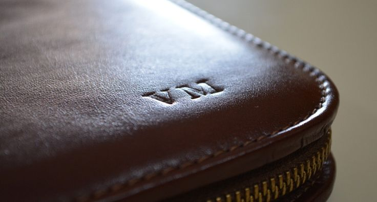 Personalized Leather Document Holder - Handmade in Italy