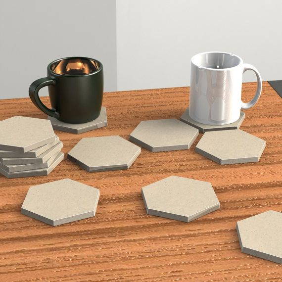 Hexagon Coaster Mold Concrete Mold Geometric Mold by BoldPrints