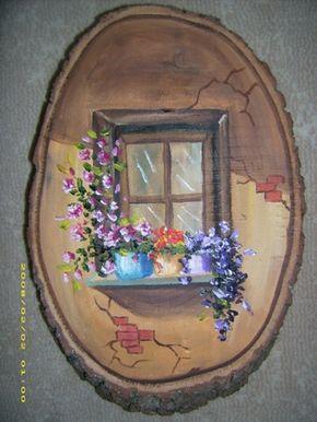 Ağaç Kütüğü Üzerinde Resim - sanatevim