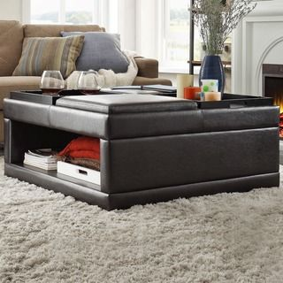 Shop for St Ives Cocktail Storage Ottoman with Flip Tray. Get free shipping at Overstock.com - Your Online Furniture Outlet Store! Get 5% in rewards with Club O!