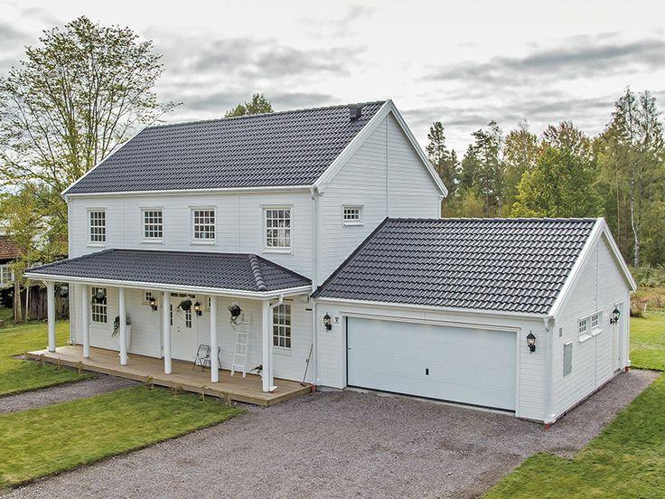 Cobb Bay - ett tvåplanshus i New Englandstil från Myresjöhus