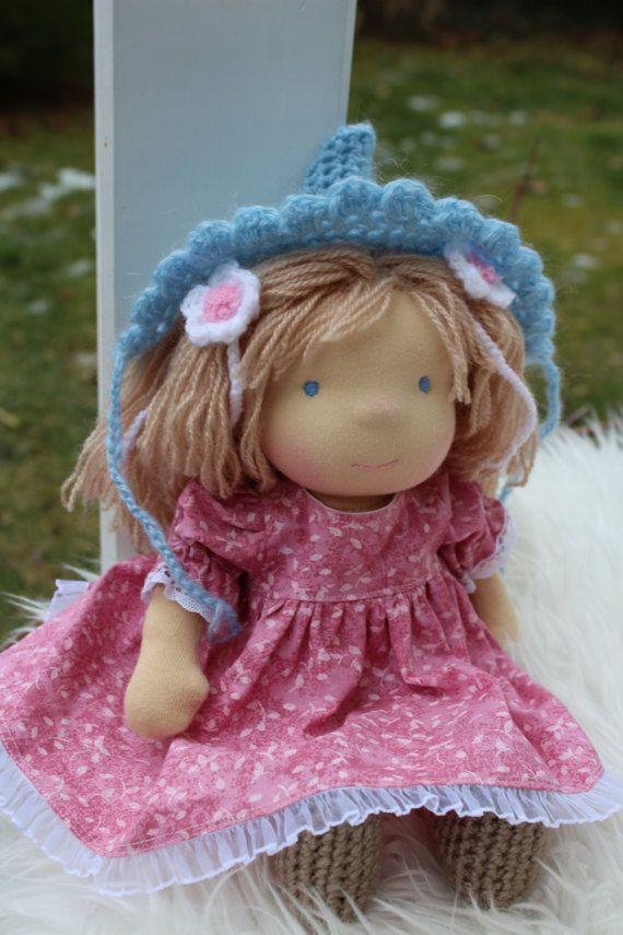Waldorf doll 12.5 tall doll steiner doll organic