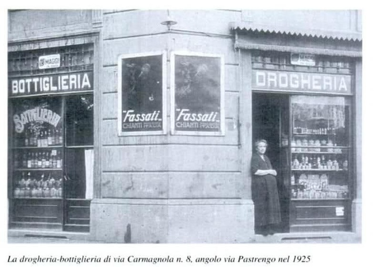 Bottiglieria via Carmagnola 8, angolo via Pastrengo, 1925