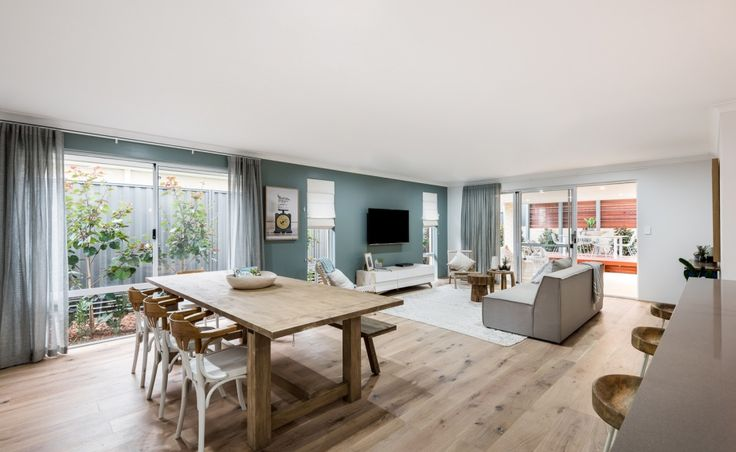 Spacious flowing casual family living areas open directly to the alfresco