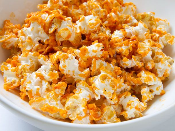 Buffalo Wings Popcorn with Frank's Red Hot butter.  Oh my.  This is getting whipped up soon!!!