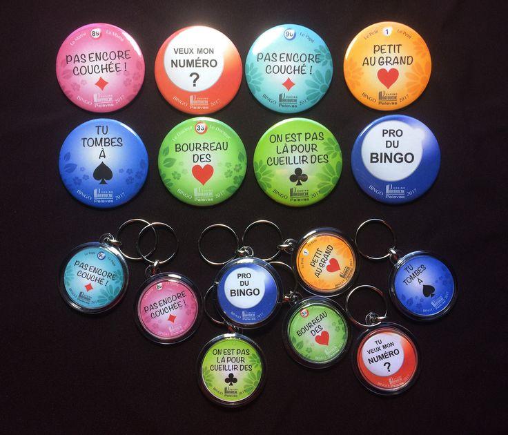 Au casino, on sait s'amuser !  Badges et porte-clefs, by Lux Tenebrae pour le Casino Partouche Palavas