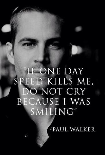 #PaulWalker on Speed