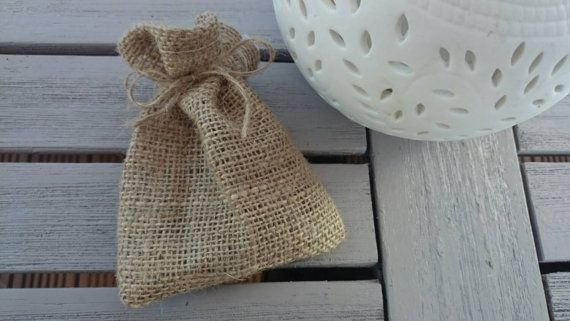 20 x small hessian bags for parties wedding favours by HessianHome