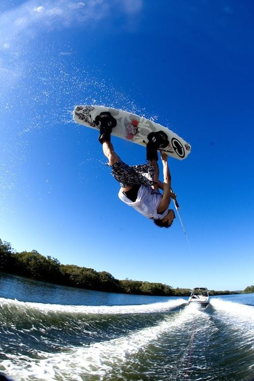 Wakeboarding. Cannot wait to learn to do this!